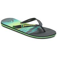 Schoenen Heren Slippers Quiksilver MOLOKAIHOLDDOWN Zwart / Groen