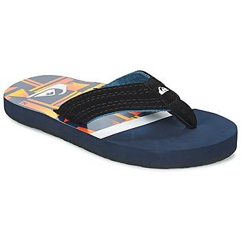 Schoenen Kinderen Slippers Quiksilver BASIS-YT B SNDL XBWN Zwart / Blauw / Orange