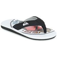 Schoenen Kinderen Slippers Quiksilver MOLOKAI LAYBACK Zwart / Wit / Rood