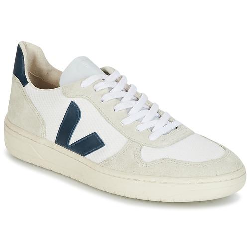 Schoenen Lage sneakers Veja V-10 Wit / Blauw
