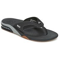 Schoenen Heren Slippers Reef FANNING Zwart / Grijs