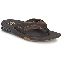 Schoenen Heren Slippers Reef LEATHER FANNING Brown