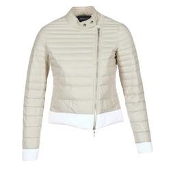 Textiel Dames Dons gevoerde jassen Armani jeans BEAUJADO Beige / Wit