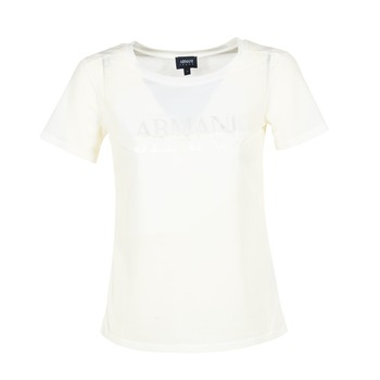 Textiel Dames T-shirts korte mouwen Armani jeans KAJOLA Wit