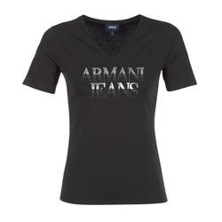 Textiel Dames T-shirts korte mouwen Armani jeans JAGONA Zwart