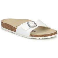 Schoenen Dames Leren slippers Birkenstock MADRID Wit / Mat