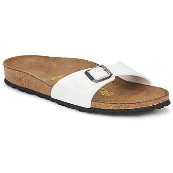 Schoenen Dames Leren slippers Birkenstock MADRID Wit / Nacre