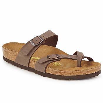 Schoenen Dames Leren slippers Birkenstock MAYARI Cafe