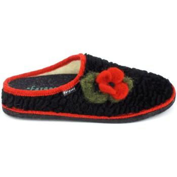 Schoenen Dames Sloffen Fargeot Siberie Noir Fleur Zwart