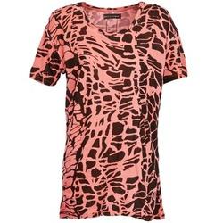 Textiel Dames T-shirts korte mouwen Religion HAWK Rood / Zwart