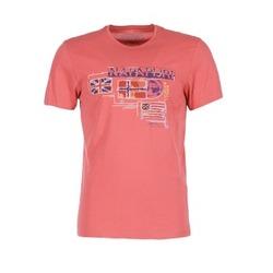 Textiel Heren T-shirts korte mouwen Napapijri VINTAGE CORAIL