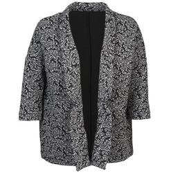 Textiel Dames Jasjes / Blazers Sisley FRANDA Zwart / Grijs