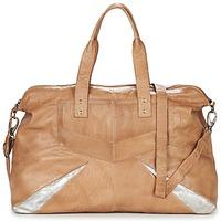 Tassen Dames Handtassen lang hengsel Pieces JACE LEATHER TRAVEL BAG Cognac / Zilver