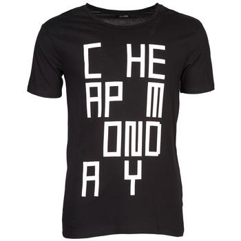 Textiel Heren T-shirts korte mouwen Cheap Monday TYLER Zwart