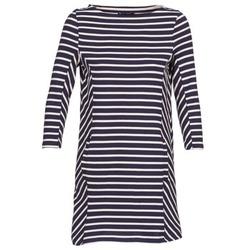 Textiel Dames Korte jurken Petit Bateau LESS Marine / Beige