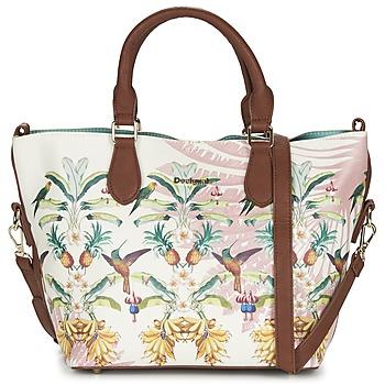 Tassen Dames Handtassen kort hengsel Desigual FLORIDA TROPICALICIOUS Ecru /  CAMEL / Multikleuren