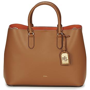 Tassen Dames Handtassen kort hengsel Ralph Lauren DRYDEN MARCY TOTE Brown / Orange