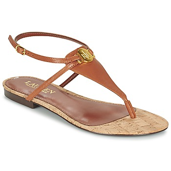 Schoenen Dames Sandalen / Open schoenen Ralph Lauren ANITA SANDALS CASUAL Brown