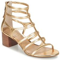 Schoenen Dames Sandalen / Open schoenen Ralph Lauren MADGE SANDALS DRESS Goud