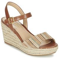 Schoenen Dames Sandalen / Open schoenen Ralph Lauren KEARA ESPADRILLES CASUAL Brown / Beige
