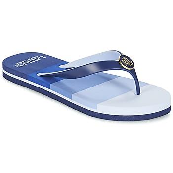 Schoenen Dames Slippers Ralph Lauren ELISSA III SANDALS CASUAL Blauw