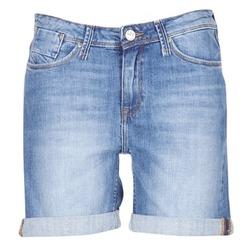 Textiel Dames Korte broeken / Bermuda's Lee BOYFRIEND SHORT Blauw / MEDIUM