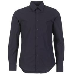 Textiel Heren Overhemden lange mouwen G-Star Raw CORE SHIRT Marine