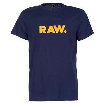 Textiel Heren T-shirts korte mouwen G-Star Raw RAW DOT Marine