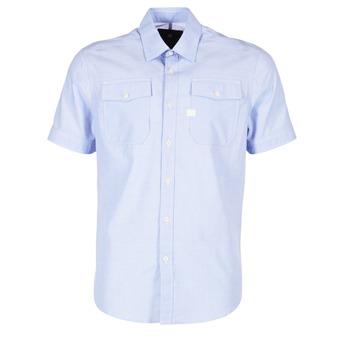 Textiel Heren Overhemden korte mouwen G-Star Raw LANDOH Blauw