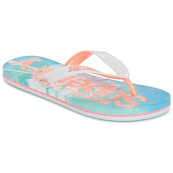 Schoenen Dames Slippers Superdry SUPERDRY AOP FLIP FLOP Roze