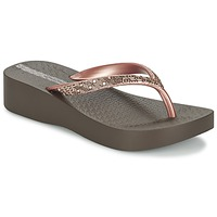 Schoenen Dames Slippers Ipanema MESH PLAT II Brown / Roze