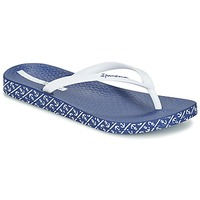 Schoenen Dames Slippers Ipanema ANATOMIC SOFT Wit / Blauw