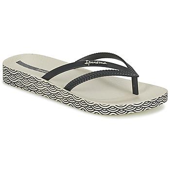 Schoenen Dames Slippers Ipanema BOSSA SOFT Zwart / Beige