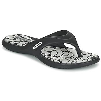 Schoenen Dames Slippers Rider ISLAND VIII Zwart / Grijs