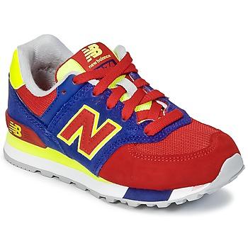Schoenen Kinderen Lage sneakers New Balance KL574 Blauw / Rood / Geel