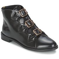 Schoenen Dames Enkellaarzen F-Troupe Triple Buckle Boot  zwart