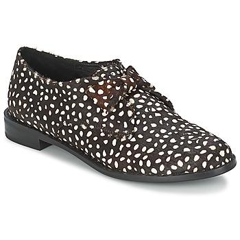 Schoenen Dames Derby F-Troupe Bow Polka  zwart / Wit