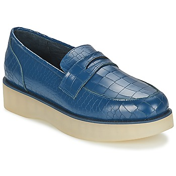 Schoenen Dames Mocassins F-Troupe Penny Loafer Navy
