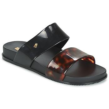 Schoenen Dames Leren slippers Melissa COSMIC Zwart