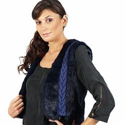 Textiel Dames Jasjes / Blazers April First GILET SANS MANCHE Blauw