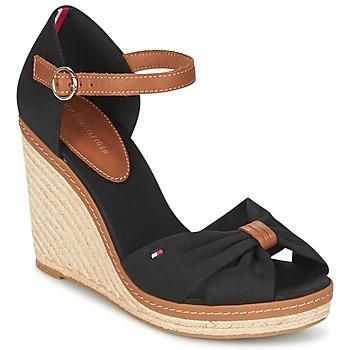 Schoenen Dames Sandalen / Open schoenen Tommy Hilfiger ELENA 56D Zwart / Brown