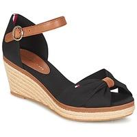 Schoenen Dames Sandalen / Open schoenen Tommy Hilfiger ELBA 40D Zwart / Brown