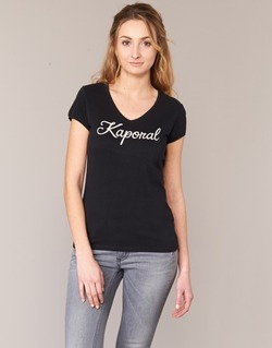 Textiel Dames T-shirts korte mouwen Kaporal NIAM Zwart