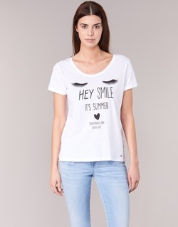 Textiel Dames T-shirts korte mouwen Kaporal ASMA Wit