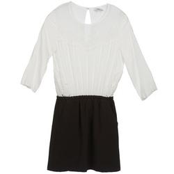 Textiel Dames Korte jurken Suncoo CELESTINE Zwart / Wit