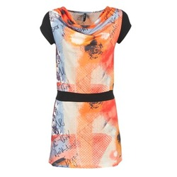 Textiel Dames Korte jurken Smash CITRON Orange / Zwart