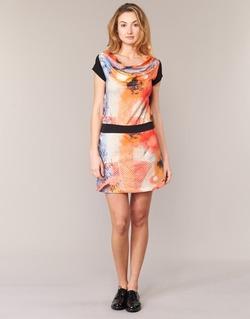 Textiel Dames Korte jurken Smash CITRON Orange / Zwart