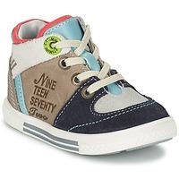 Schoenen Jongens Hoge sneakers Catimini PIMENT Grijs / Turquoise