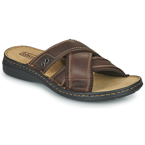 Schoenen Heren Leren slippers TBS BENAIX Brown
