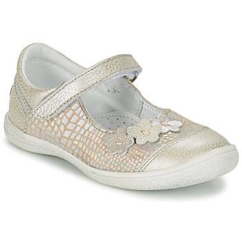 Schoenen Meisjes Ballerina's GBB PRATIMA Grijs / Zilver